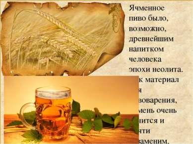 Ячменное пиво было, возможно, древнейшим напитком человека эпохи неолита. Как...