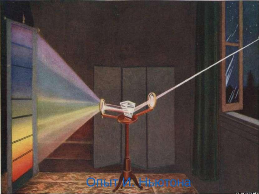 Опыт И. Ньютона Опыт Ньютона по разложению света – что изменилось в установке...