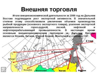 Внешняя торговля Итоги внешнеэкономической деятельности за 1999 год на Дальне...