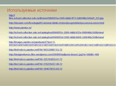 Используемые источники http://files.school-collection.edu.ru/dlrstore/0000055...
