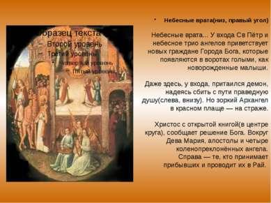 Небесные врата(низ, правый угол) Небесные врата... У входа Св Пётр и небесное...