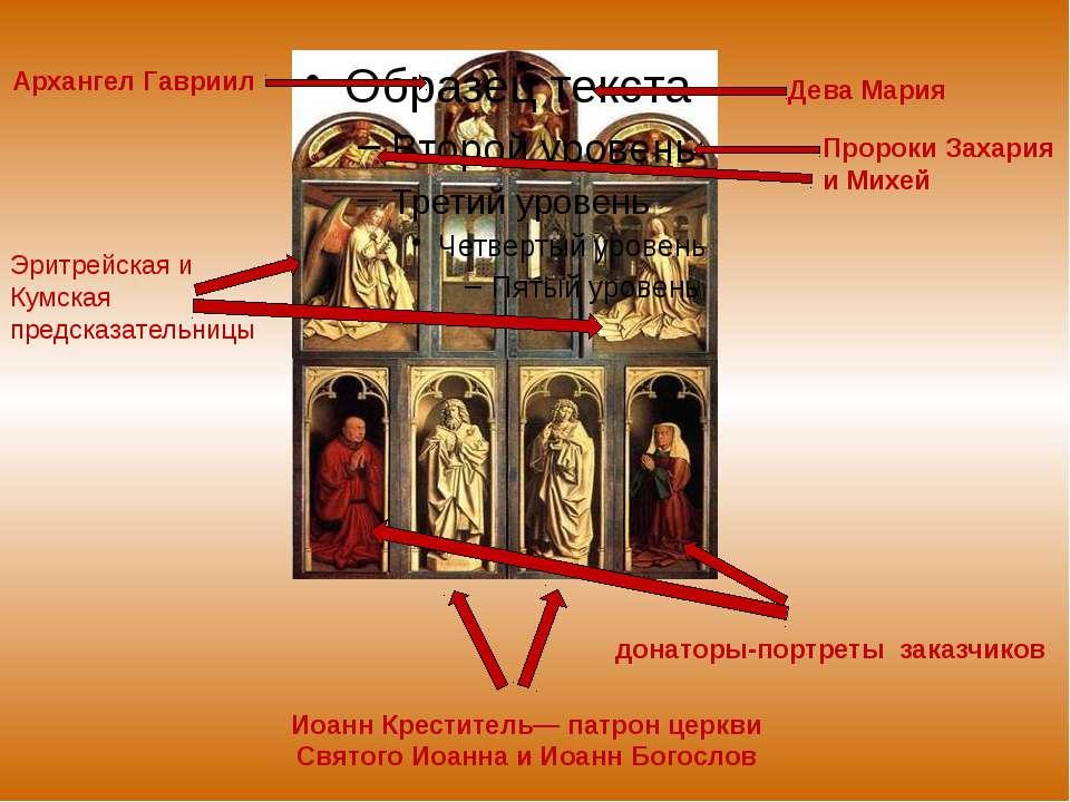 Дева Мария Архангел Гавриил Пророки Захария и Михей Иоанн Креститель— патрон ...