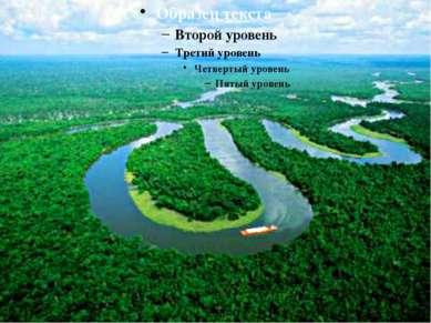 Амазонская низменность - самая большая низменность на Земле, S > 5 млн. км².