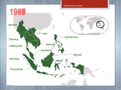 Изменение состава Таиланд Индонезия сингапур филиппины малайзия мьянма вьетна...
