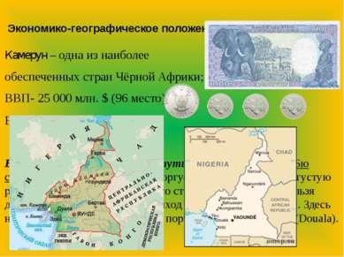 Экономико-географическое положение Камерун – одна из наиболее обеспеченных ст...