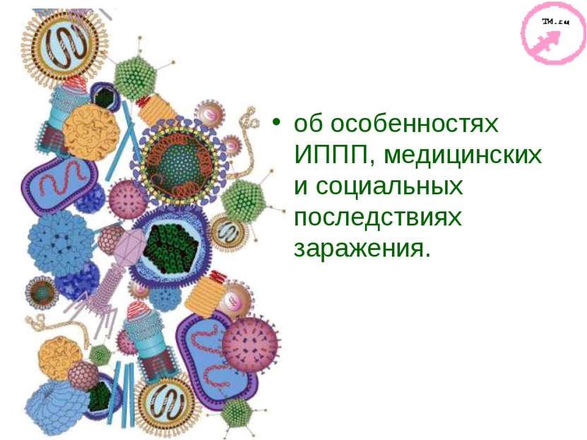об особенностях ИППП, медицинских и социальных последствиях заражения.