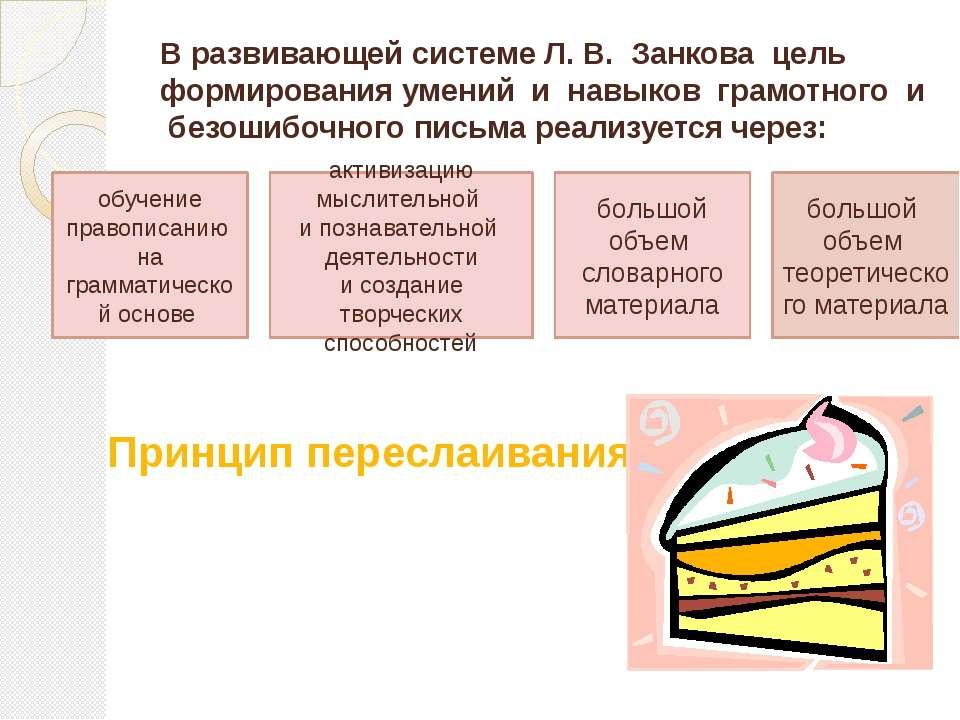 В развивающей системе Л. В. Занкова цель формирования умений и навыков грамот...