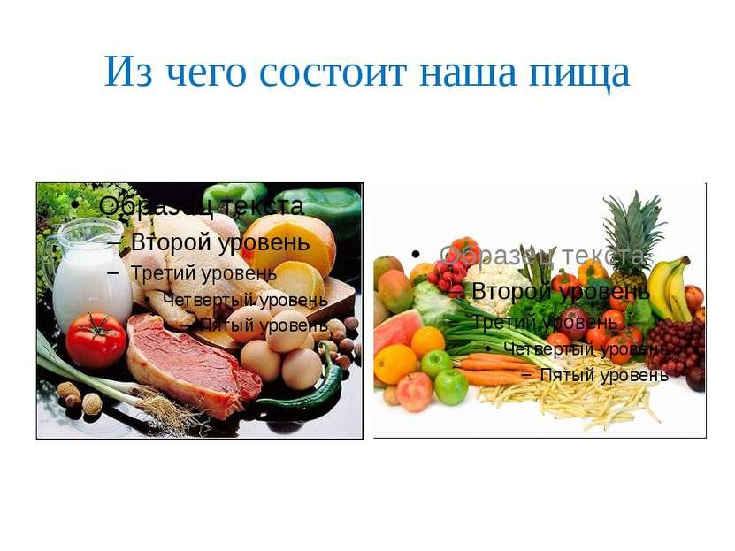 Из чего состоит наша пища