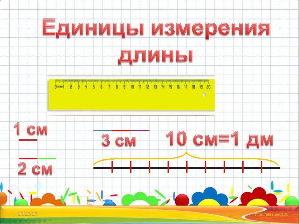 Изучение длины в начальной школе