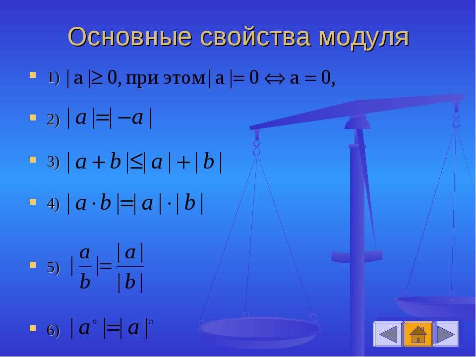 Основные свойства модуля 1) 2) 3) 4) 5) 6)