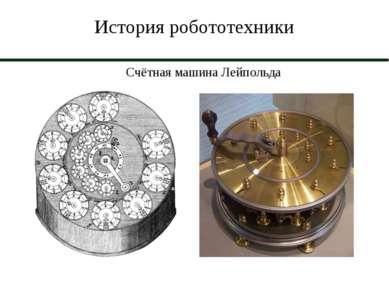 История робототехники Счётная машина Лейпольда