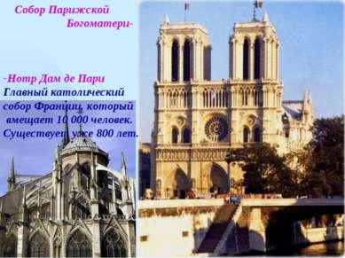 Собор Парижской Богоматери- Нотр Дам де Пари Главный католический собор Франц...