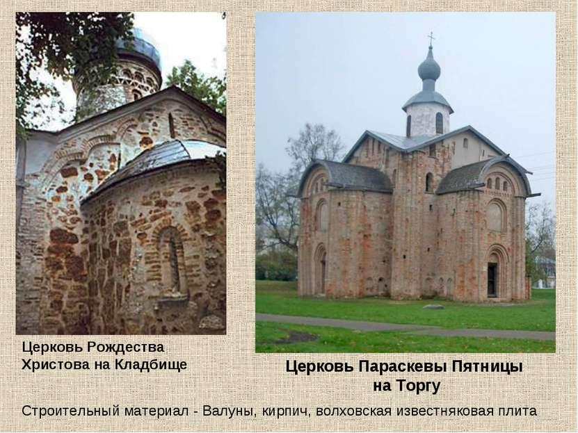 Церковь Рождества Христова на Кладбище Церковь Параскевы Пятницы на Торгу Стр...