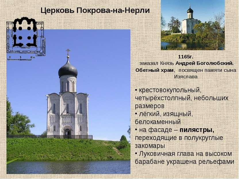 Церковь Покрова-на-Нерли 1165г. заказал Князь Андрей Боголюбский. Обетный хра...