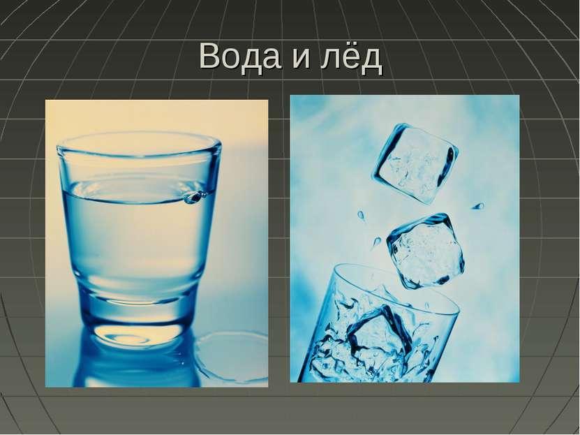 Вода и лёд