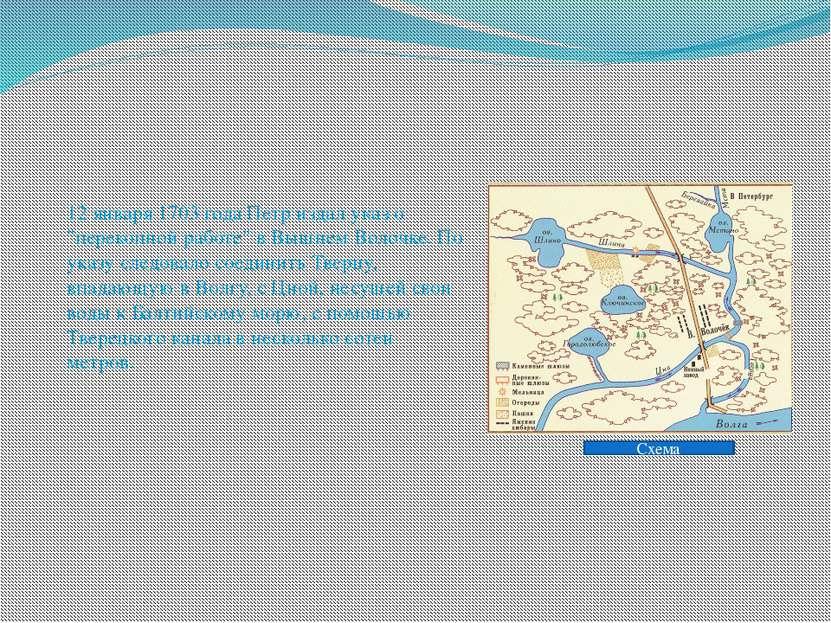 """12 января 1703 года Петр издал указ о """"перекопной работе"""" в Вышнем Волочке. П..."""