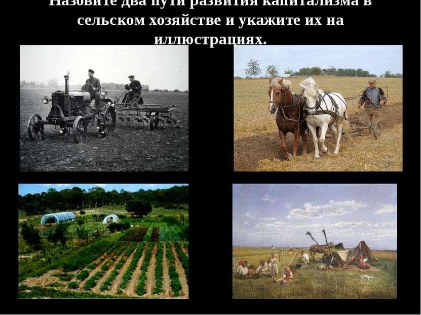 Назовите два пути развития капитализма в сельском хозяйстве и укажите их на и...