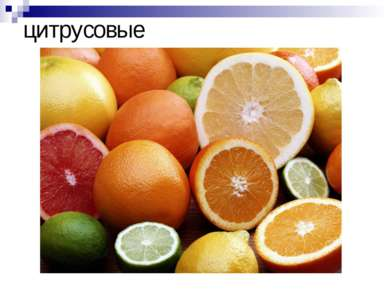 цитрусовые