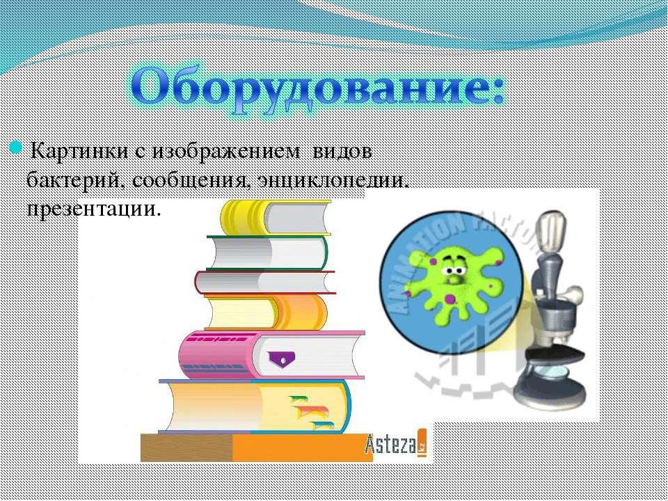 Картинки с изображением видов бактерий, сообщения, энциклопедии, презентации.