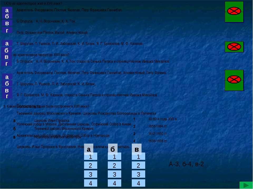 г б в а а б в г б а в г 1 2 3 4 а б в 1 2 3 4 1 2 3 4 А-3, б-4, в-2 а б в Соп...