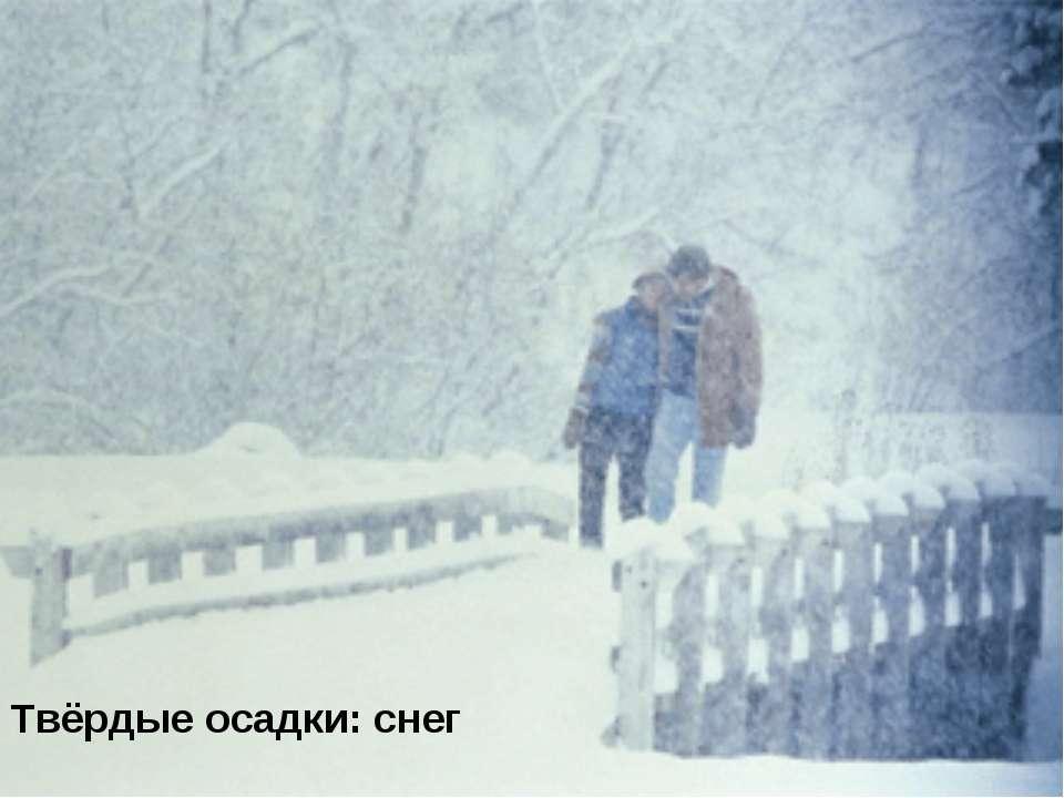 Твёрдые осадки: снег