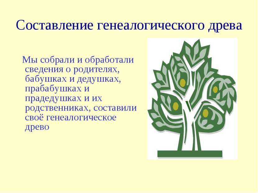 Генеалогическое древо поздравления