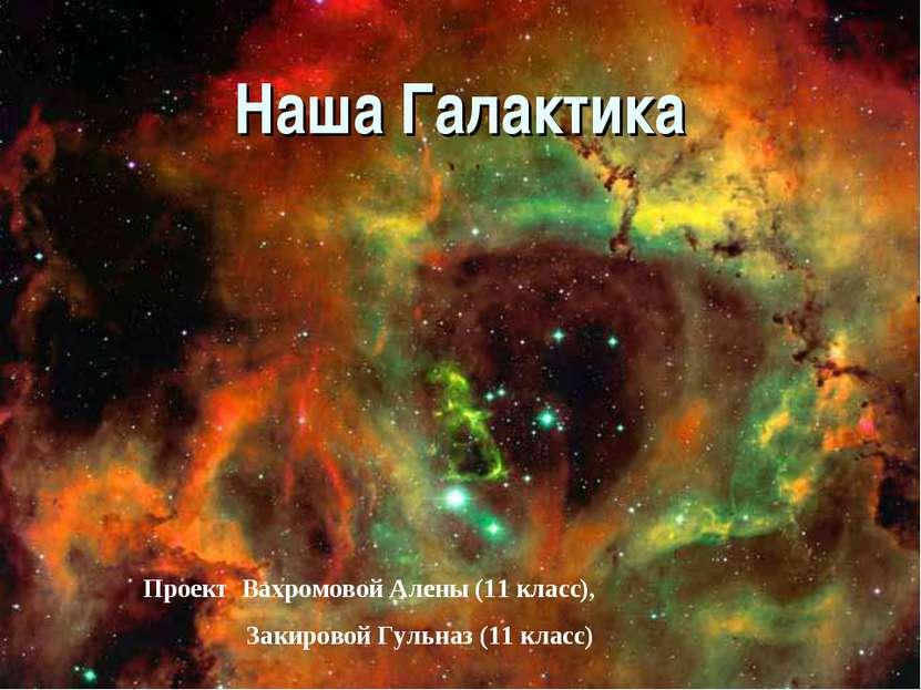 Наша Галактика Проект Вахромовой Алены (11 класс), Закировой Гульназ (11 класс)