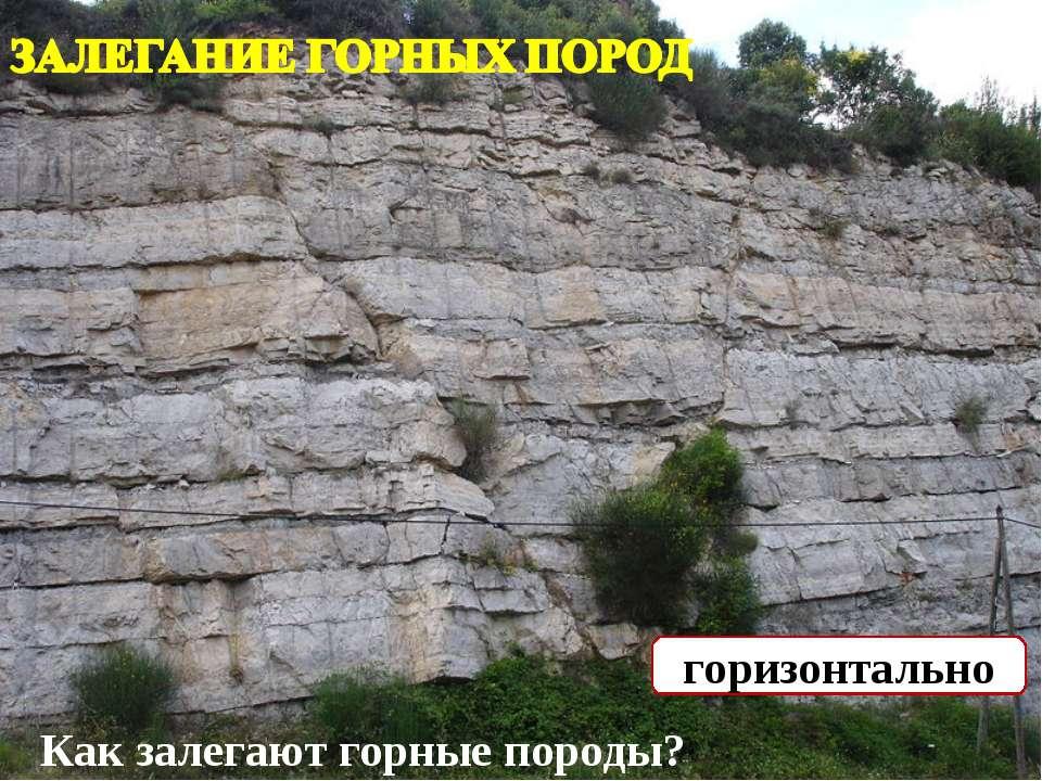 Как залегают горные породы? горизонтально