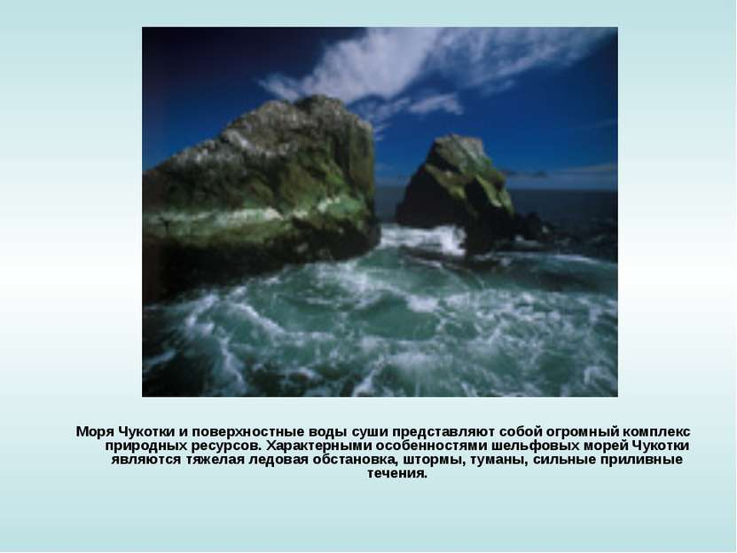Моря Чукотки и поверхностные воды суши представляют собой огромный комплекс п...