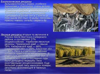 Биологические ресурсы дальневосточных морей, особенно Берингова и Охотского, ...