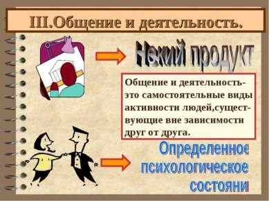 III.Общение и деятельность. Общение и деятельность- это самостоятельные виды ...