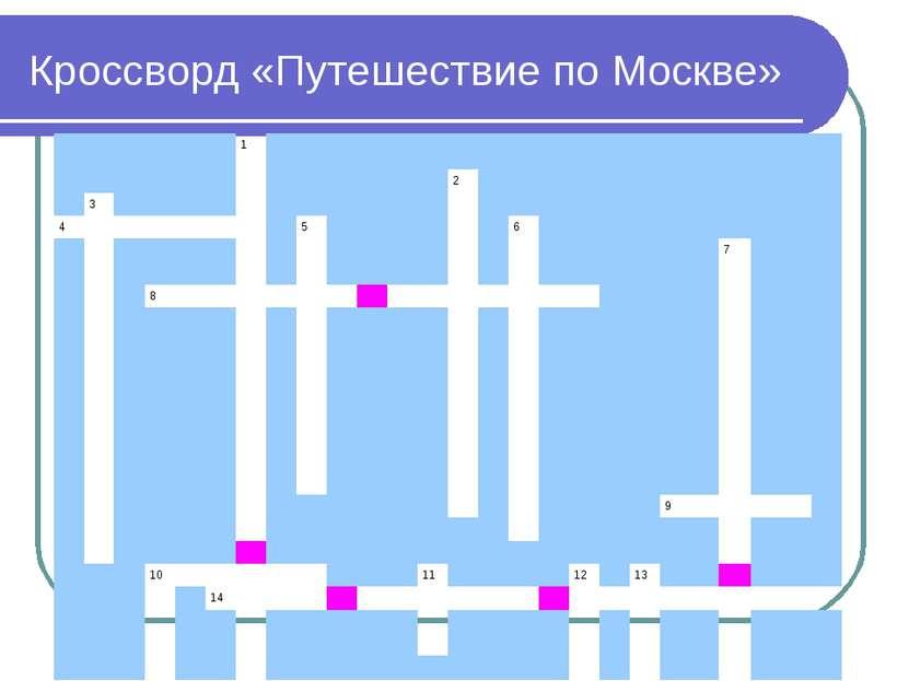 Кроссворд «Путешествие по Москве»