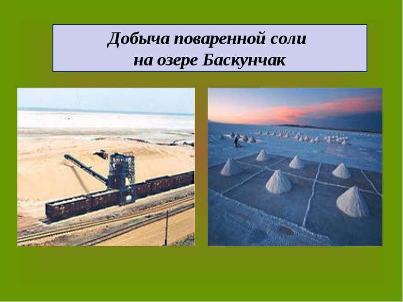 Добыча поваренной соли на озере Баскунчак