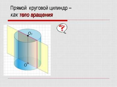 Прямой круговой цилиндр – как тело вращения