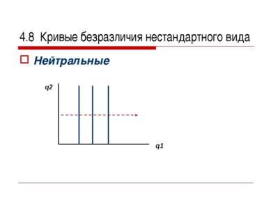 4.8 Кривые безразличия нестандартного вида Нейтральные q2 q1
