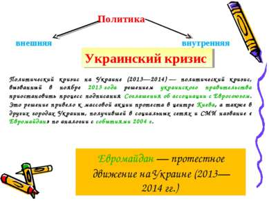 Политика внешняя внутренняя Украинский кризис Политический кризис на Украине ...
