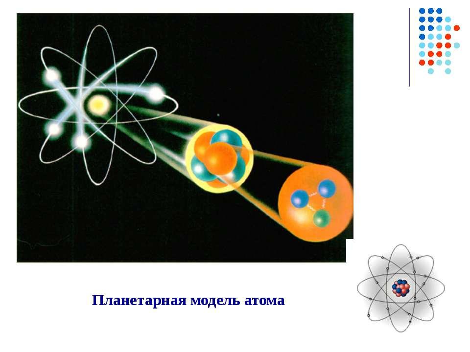 Планетарная модель атома