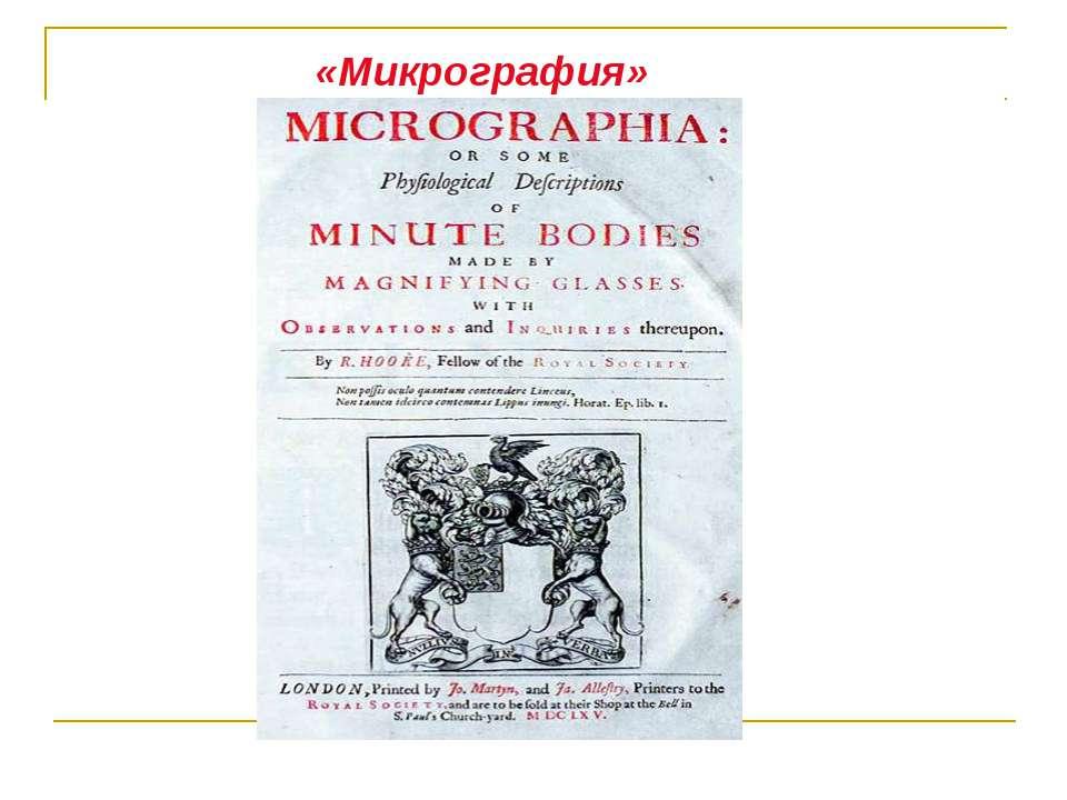 «Микрография»