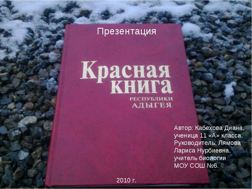 Презентация Автор: Кабехова Диана, ученица 11 «А» класса. Руководитель: Лямов...