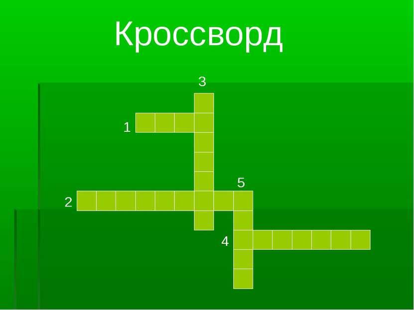 1 2 3 4 5 Кроссворд