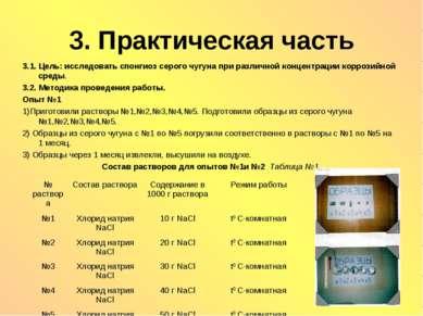 3. Практическая часть 3.1. Цель: исследовать cпонгиоз серого чугуна при разли...