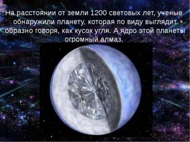 На расстоянии от земли 1200 световых лет, ученые обнаружили планету, которая ...