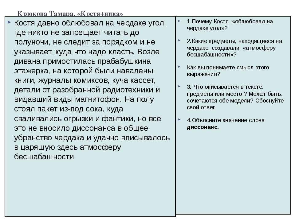 Крюкова Тамара. «Костя+ника» Костя давно облюбовал на чердаке угол, где никто...