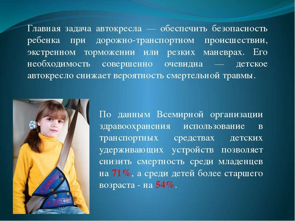 По данным Всемирной организации здравоохранения использование в транспортных ...