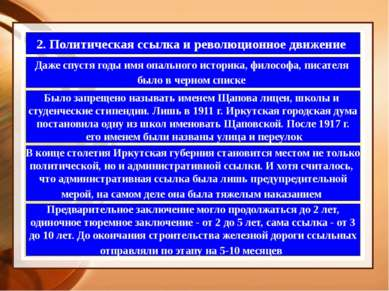 2. Политическая ссылка и революционное движение Даже спустя годы имя опальног...