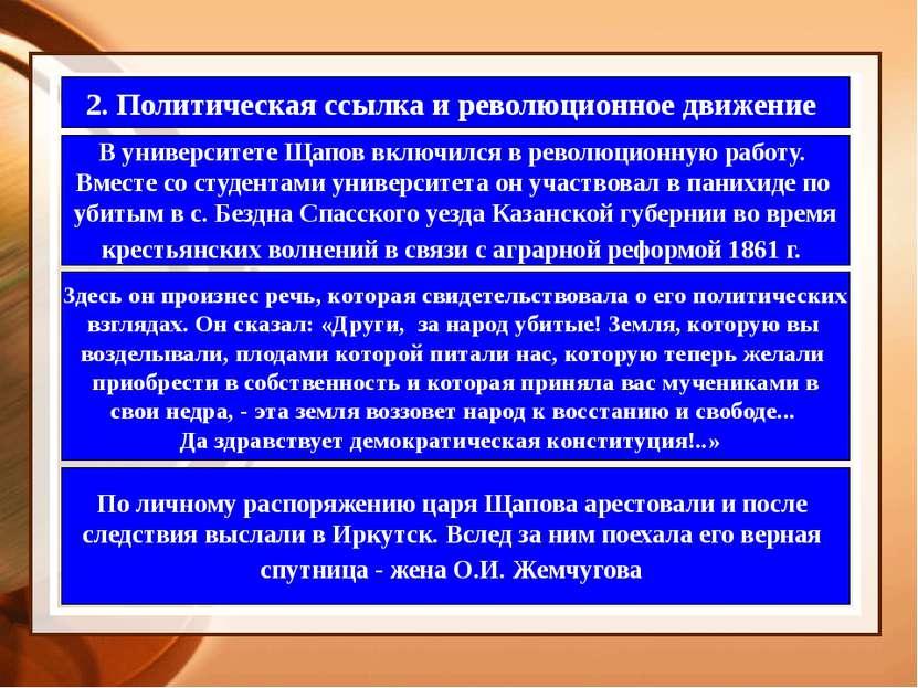 2. Политическая ссылка и революционное движение В университете Щапов включилс...
