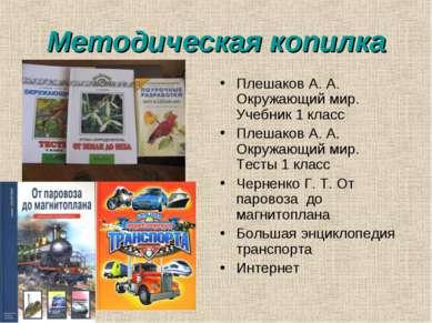 Методическая копилка Плешаков А. А. Окружающий мир. Учебник 1 класс Плешаков ...
