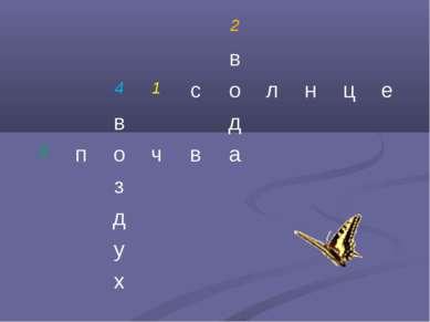 2 в 4 1 с о л н ц е в д 3 п о ч в а з д у х