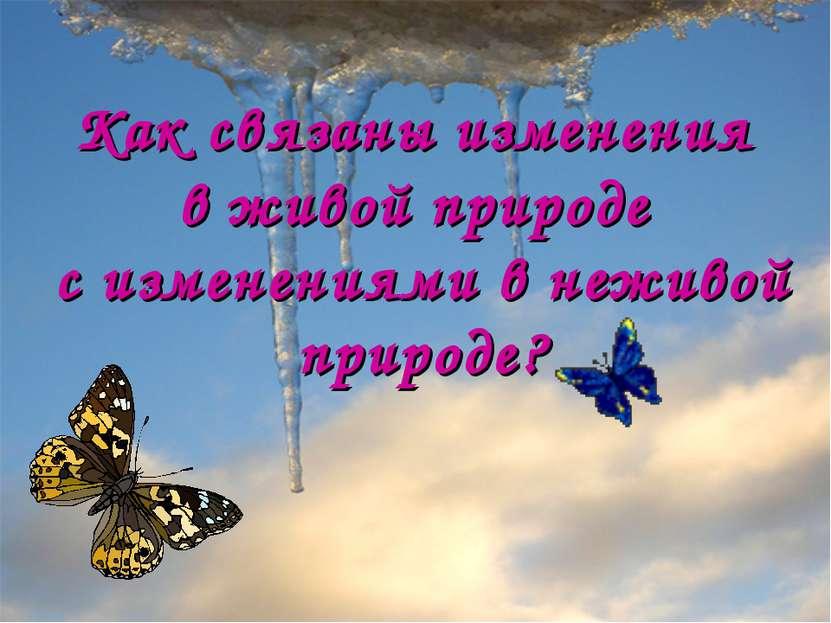 Анатольева Э.В. Как связаны изменения в живой природе с изменениями в неживой...