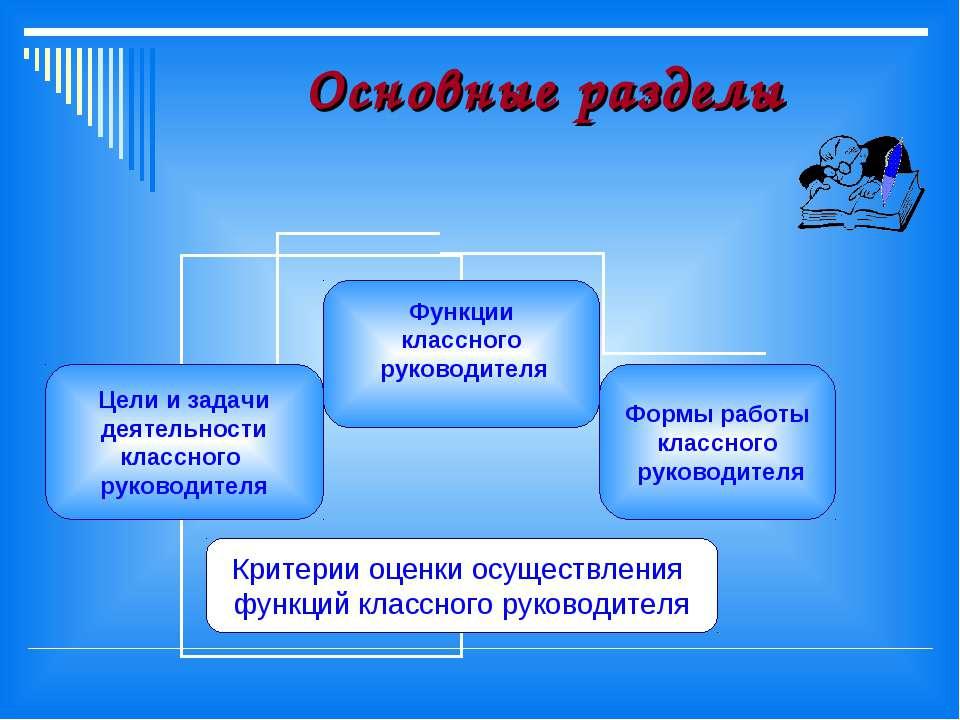 Основные разделы